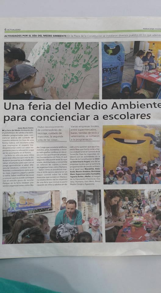 Feria del medio ambiente para concienciar a escolares